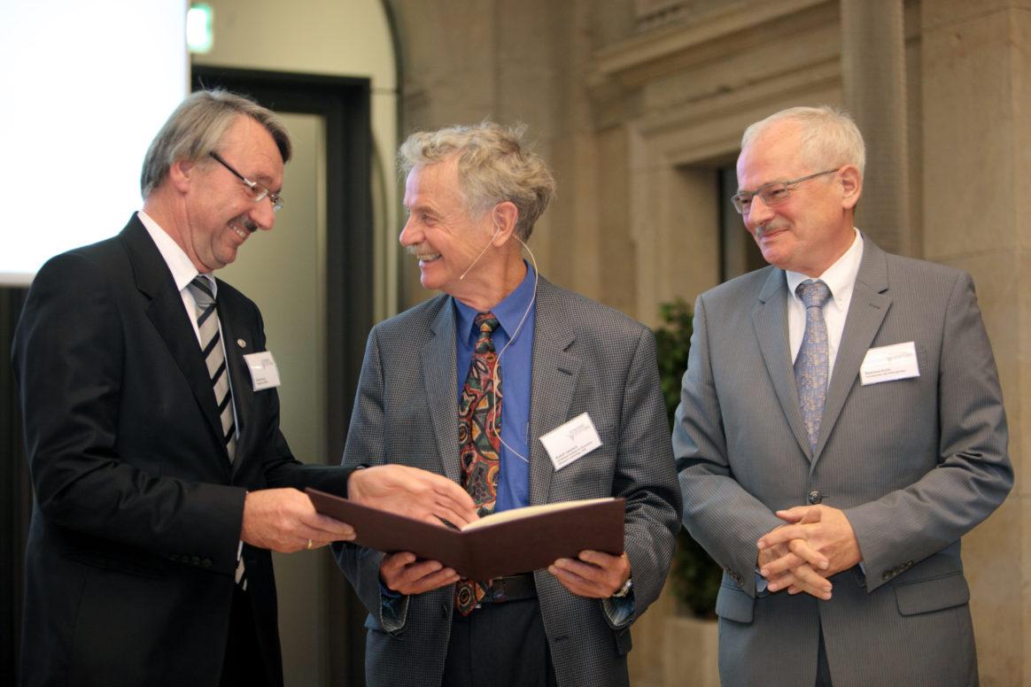 Prof. Günter Stock, Prof. Rudolph Jaenisch, Prof. Reinhard Kurth - Ernst Schering Preisverleihung 2009