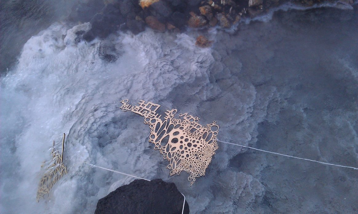 Geothermally Occurring Sculptures, 2011, c-print Blue Lagoon, Island