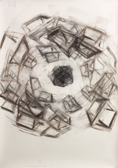 "Christoph Kern: ""Fluorine,"" charcoal on paper, 2017"