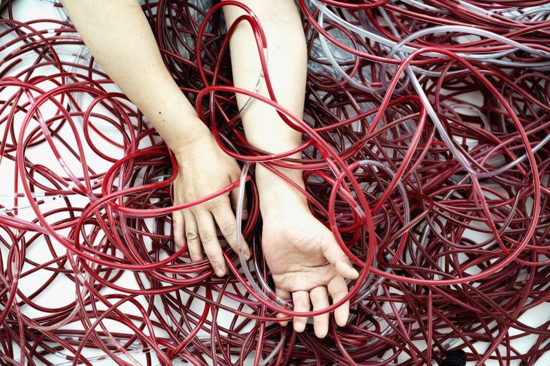 Chiharu Shiota - Wall (2010), Performance Still