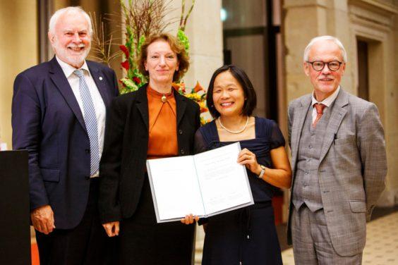 Prof. Martin Grötschel, Prof. Maria Leptin, Prof. Elly Tanaka, Prof. Stephan Kaufmann - Ernst Schering Preis 2017