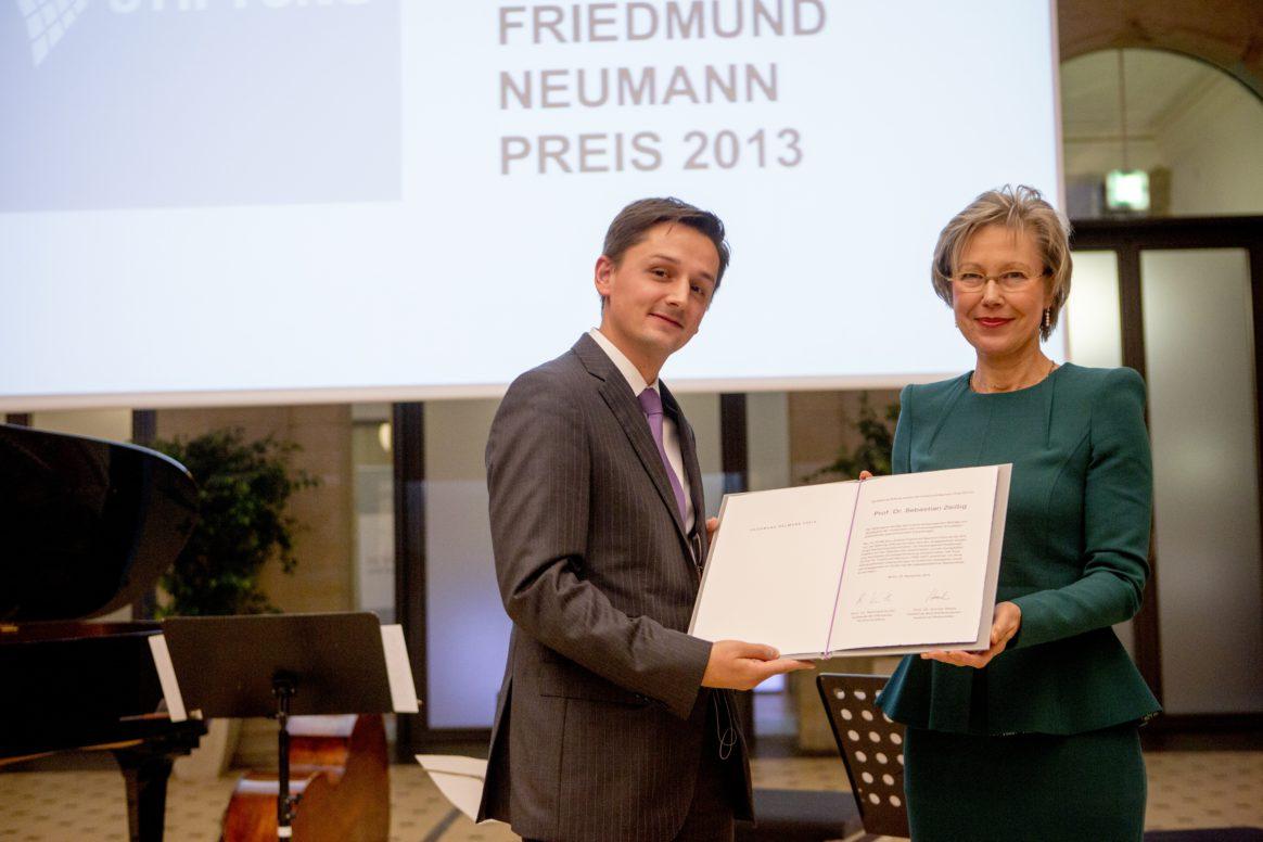 Prof. Dr. Sebastian Zeissig - Friedmund Neumann Preisverleihung 2013