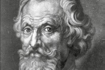 Foto: Galen-Portrait, J. Faber, sen., nach einer Zeichnung von P. P. Rubens.