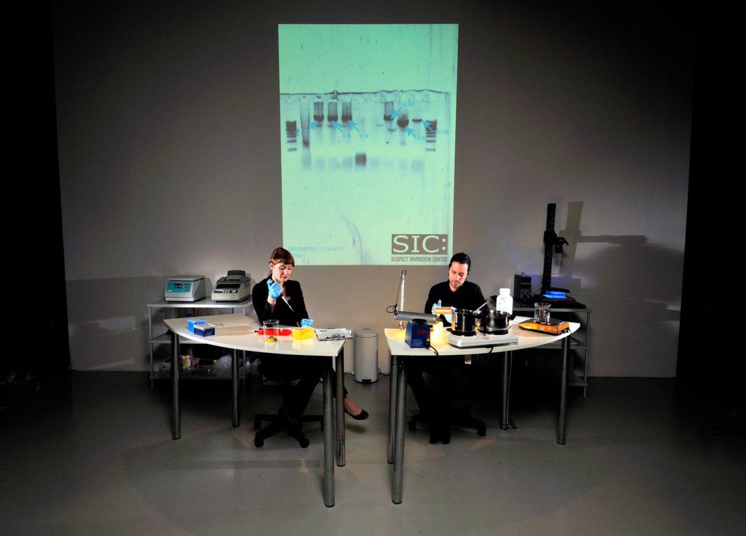 Paul Vanouse: Fingerprints..., Ausstellungsansicht Schering Stiftung, 2011