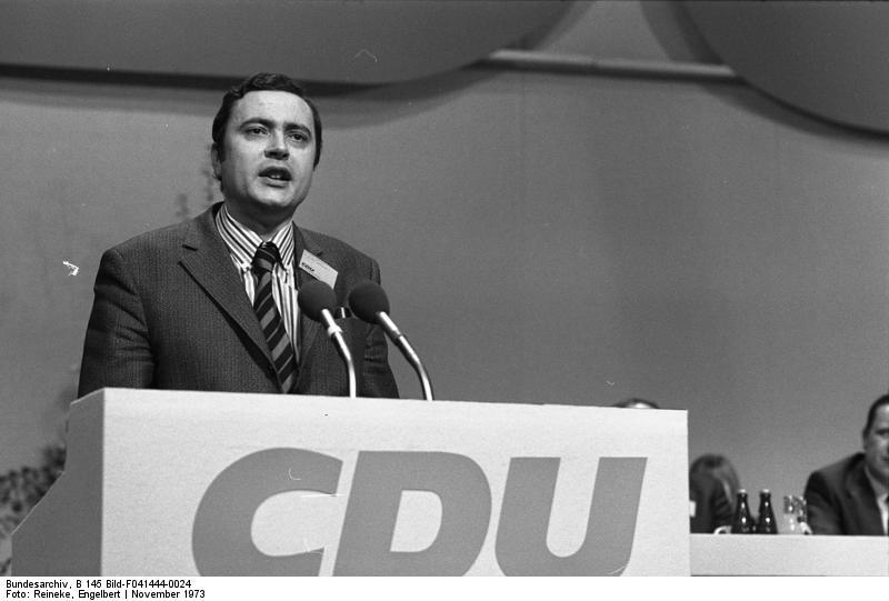 22. Bundesparteitag der CDU in Hamburg (Mitglied d. Sozialausschüsse, Albrecht Hasinger) 18.-20.11.1973