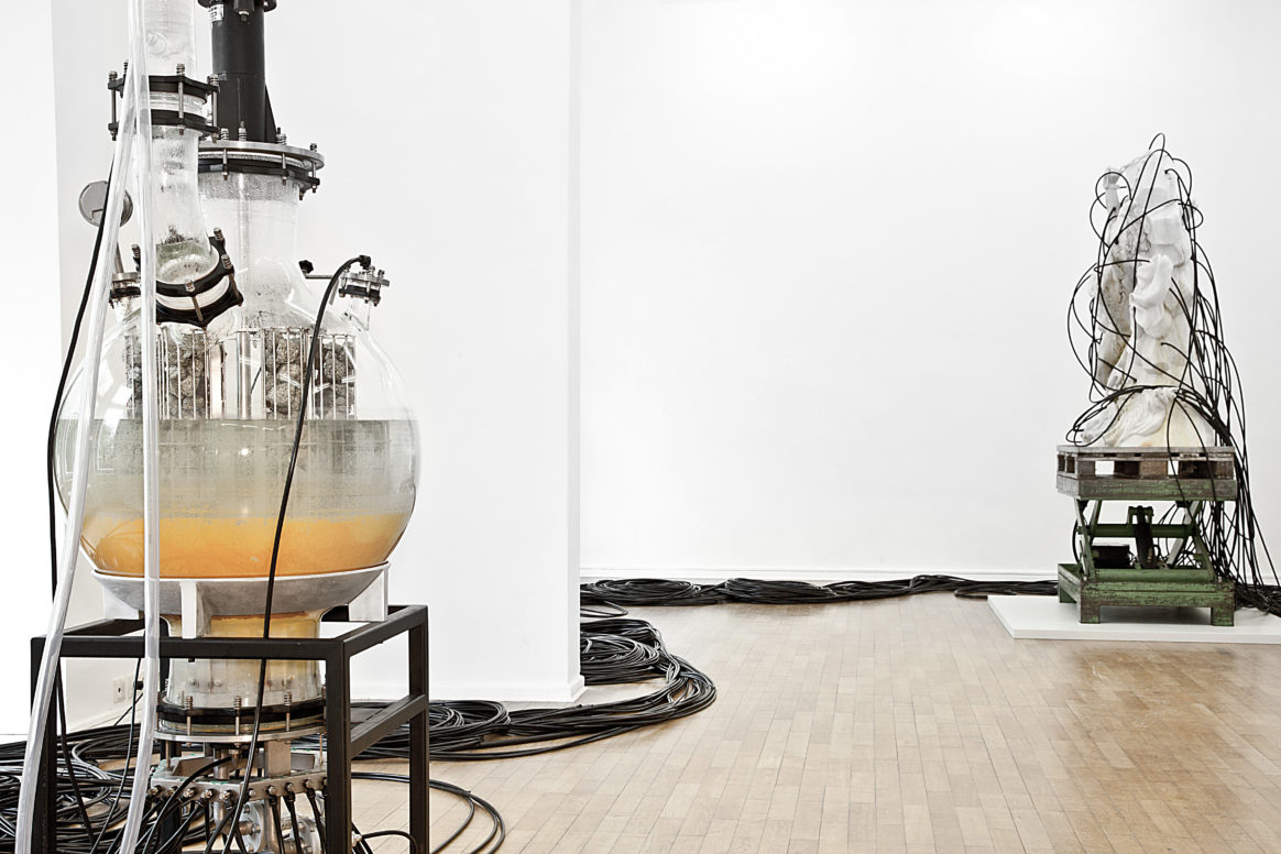 Thomas Feuerstein: PROMETHEUS DELIVERED, installation view Haus am Lützowplatz, 2017