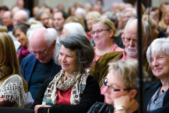 Klangwelten: Wie mächtig ist das Hören? Am 9. Oktober 2018 in der BBAW mit Helmut Oehring, Daniela Sammler und Dörte Schmidt. Foto: Judith Affolter