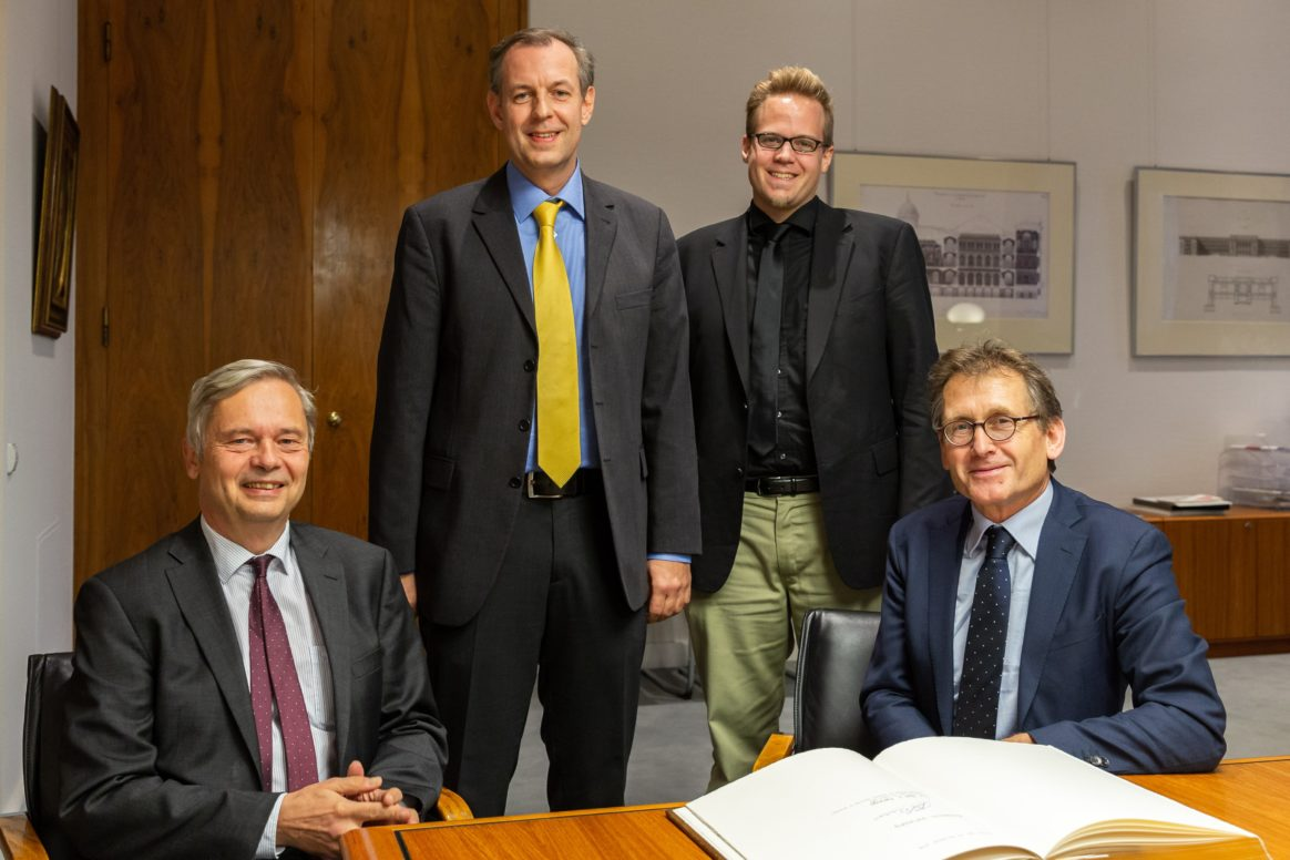 Prof. Christian Thomsen, Prof. Roderich Süssmuth, Prof. Johannes F. Teichert, Prof. Ben L. Feringa