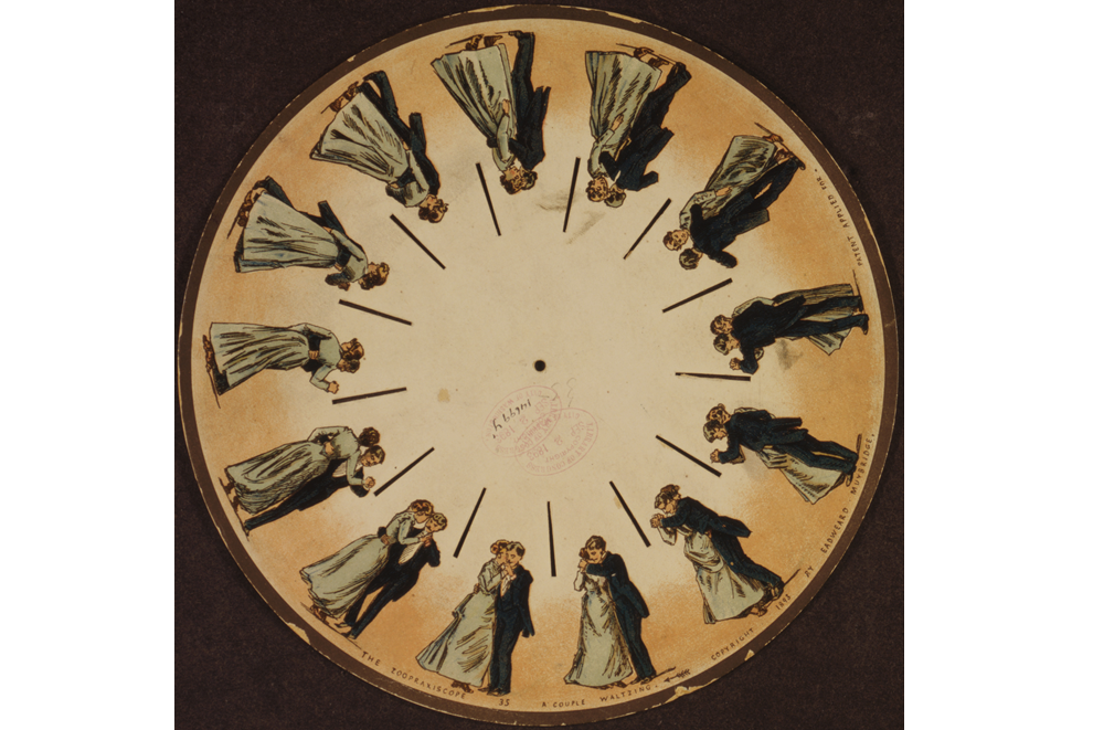 Eadweard Muybridge: Phenakistoskopscheibe (1893)
