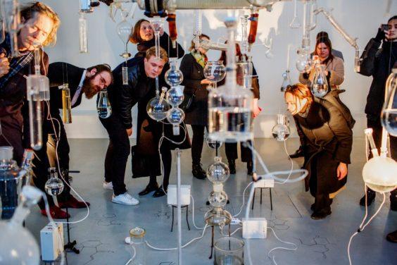 """Ausstellungseröffnung Sissel Tolaas """"22 – Molecular Communication""""  10.04.2019,  Schering Stiftung"""