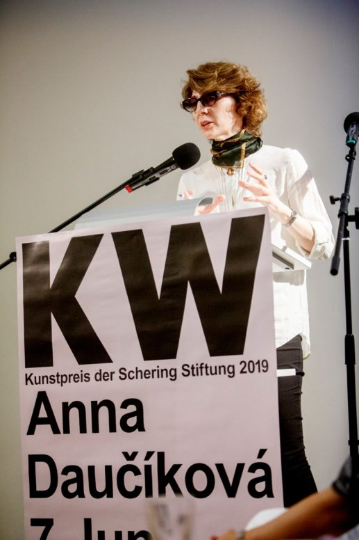 On June 5, 2019, the artist Anna Daučíková received the Art Prize of the Schering Stiftung in the Czech Center Berlin. She presents a new work as well as older works in a solo exhibition at KW Institute for Contemporary Art; preview of the exhibition before the award ceremony.