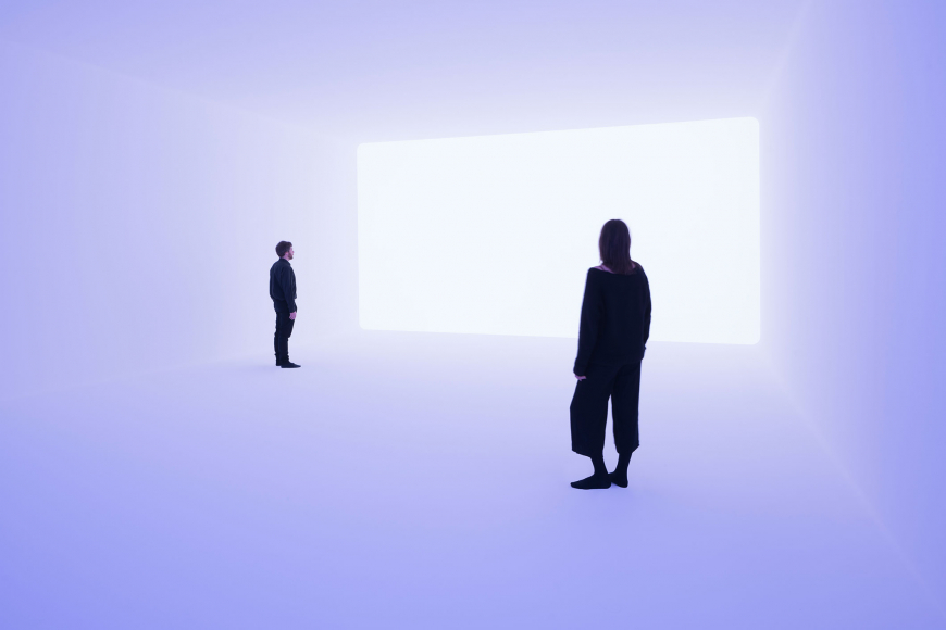 "James Turrell, Ganzfeld ""Aural"", 2018, Jewish Museum Berlin, donation by Dieter and Si Rosenkranz"
