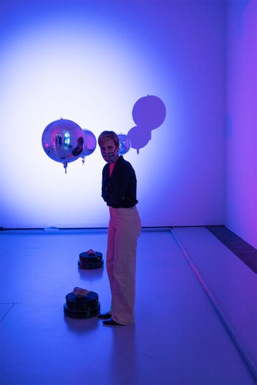 """Ausstellungseröffnung, Hyphen Labs """"PushMi PullYu""""  11.09.2020,  Schering Stiftung, Kuratorin Nele Heinevetter"""