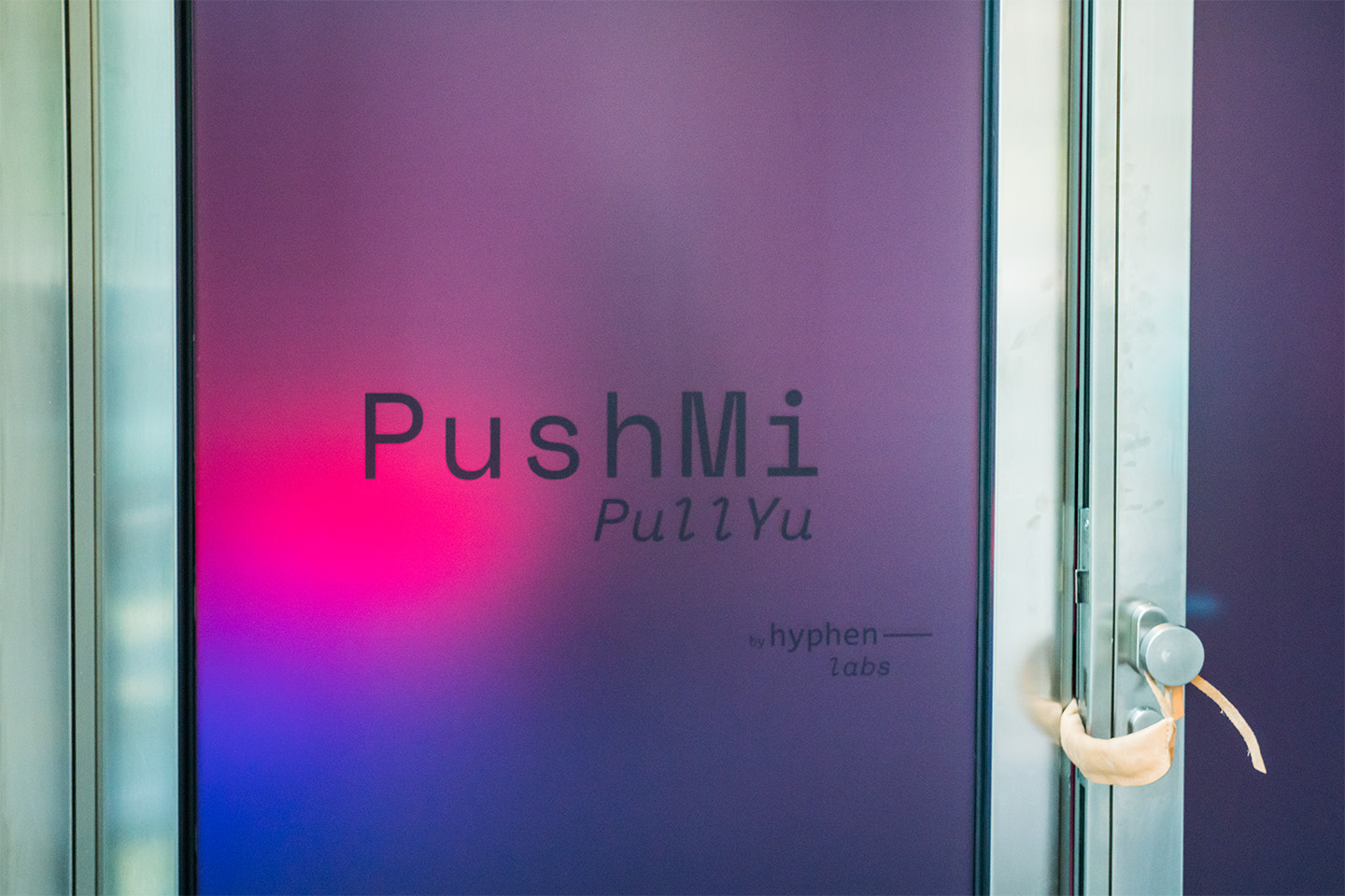 Hyphen-Labs: PushMi PullYu, entrance