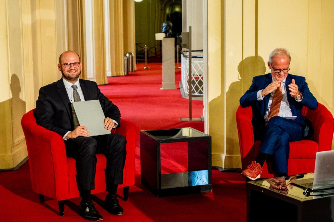 Ernst Schering Preis 2020 & Friedmund Neumann Preis 2020 am 30.09.2020 in der Komischen Oper Berlin. Feierliche Preisverleihung zu Ehren von Jens Brüning und Florian Kahles.