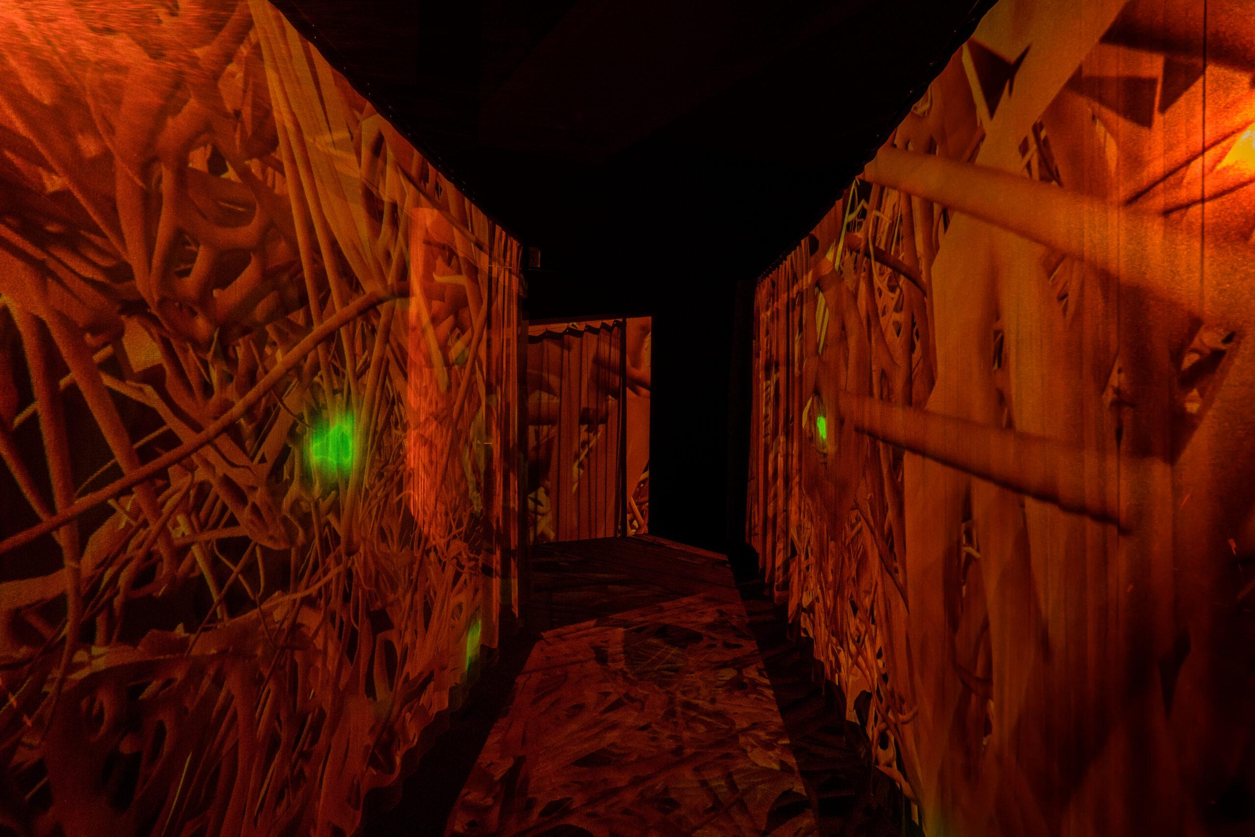 "Susanne M. Winterling: ""TEMPERATE. under your skin, nano carriers directed through the web of life"", Installationsansicht, Courtesy Susanne M. Winterling / Schering Stiftung © VG Bild-Kunst, Bonn 2021"