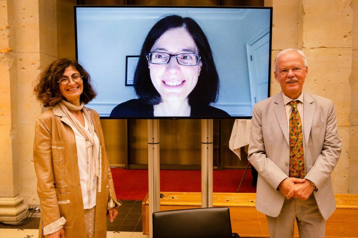 Prof. Dr. Genevieve Almouzni, Prof. Aviv Regev, Prof. Dr. Stefan Kaufmann   - Award Ceremony 2021Prof. Dr. Genevieve Almouzni, Prof. Aviv Regev, Prof. Dr. Stefan Kaufmann   - Preisverleihung 2021