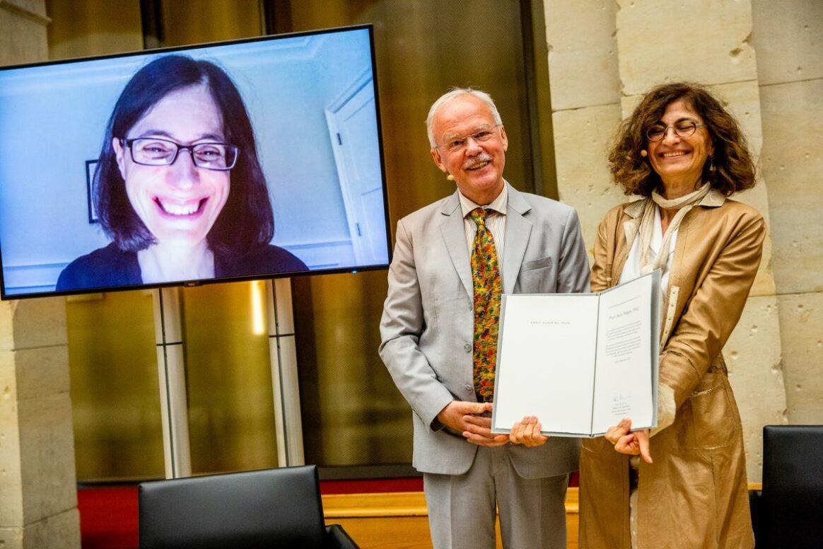 Prof. Aviv Regev, Prof. Dr. Stefan Kaufmann, Prof. Dr. Genevieve Almouzni  - Preisverleihung 2021